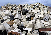 Montanha de lixo eletrônico