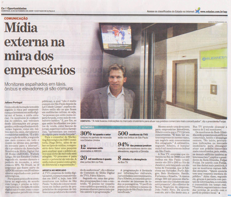 Matéria publicada no Estadão